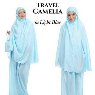 🚚 Telekung Travel Camelia (Light Blue)