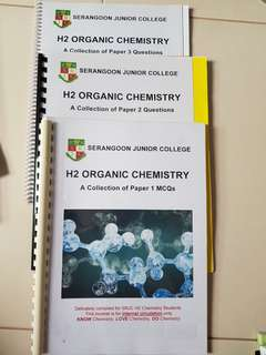 H2 CHEM SRJC Organic revision question book