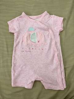 Mothercare pink elephant romper