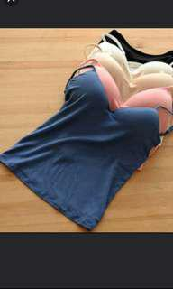 Blue Padded Cami Top