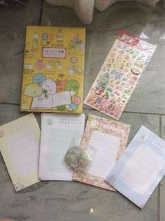 Sumikko Gurashi Notebook + Stickers + Envelops Set