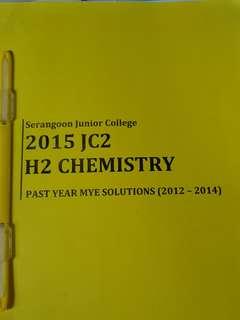 SRJC H2 Chem past year mye exam papers