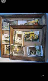 Brand New in Plastic Wooden Wood Photo Frame Display Board Hanging