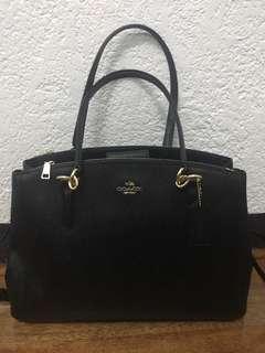 Coach crossgrain leather carryall crossbody handbag