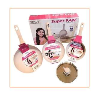 Panci Bolde SuperPan isi 3 Pcs Granite Anti Lengket