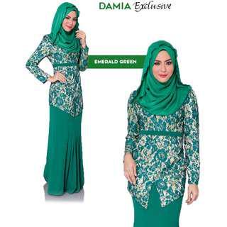Damia Modern Kebaya Emerald Green