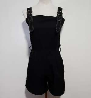 Korean black romper
