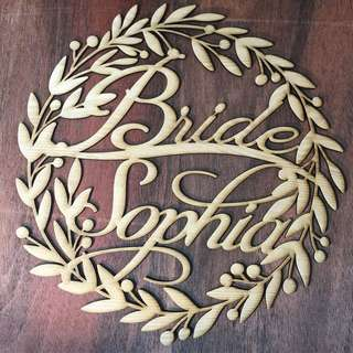 Wedding Chair Sign Custom Rustic