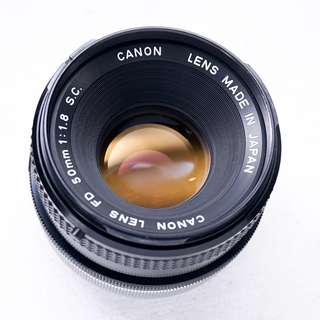 Canon 50mm f1.8 FD manual focus lens