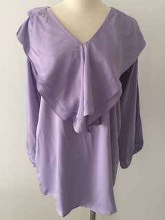 *New* Lilac Satin Nursing Blouse