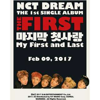 NCT DREAM FIRST AND LAST ALBUM