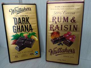 Dark Chocolate72% or 50% 250g (by from New Zealand)