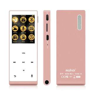 (BNIB) MAHDI 8GB Bluetooth Music Player & Recorder with External Speaker & Hi-Fi Sound - Rose Gold (Brand New Boxed)
