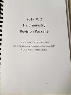 YJC H2 chemistry Revision package
