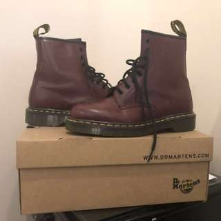 Doc Martens Cherry Red 1460 Smooth