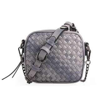 Woven Grey Bag