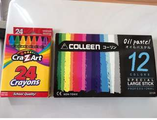 New colour crayons and colour pencils!