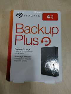 "🚚 Brand New sealed, never open. Seagate 4TB Portable External HDD Hard Disk Drive Backup Plus 4.0 TB external 2.5"" Portable"