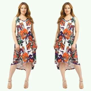 Plus Size Long Back Dress
