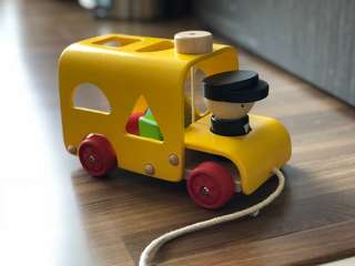 Plan Toy Sorting Bus Wooden Toy Imaginative Play Montessori Compatible