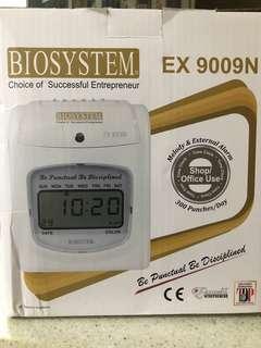 BIOSYSTEM EX9009N time recorder