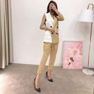 2018年Dior夏季 撞色馬甲背心套裝 正式套裝