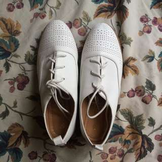 White Oxford Shoes