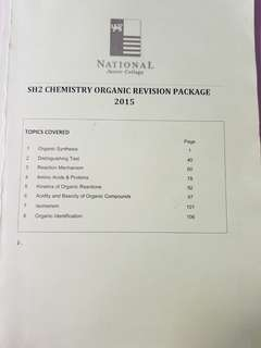 NJC H2 ogranic chem revision package