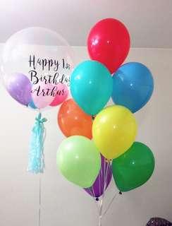 生日Crystal ball水晶波氦氣球