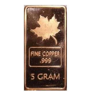 C083 美國5克銅磚
