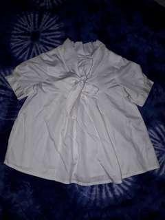 Gingersnaps girls white top