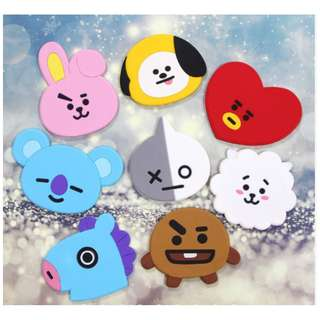 BT21 BTS Silicone Cosmetic Mirror