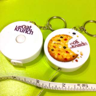 Oat Crunch measuring tape key chain