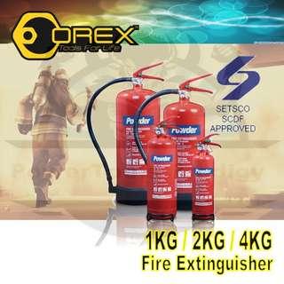[NEW] OREX FIRE EXTINGUISHER 1KG/2KG/4KG/6KG ABC POWDERED