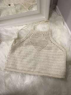 Crochet Halter Top F21