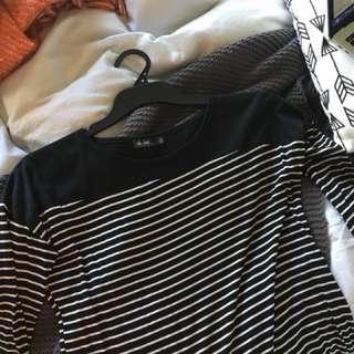 B & W strip long sleeve