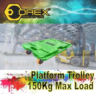 [NEW] OREX PLATFORM TROLLEY CART WITHOUT HANDLES