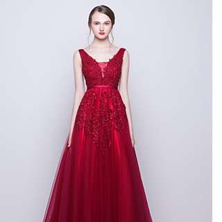 A line tulle lace prom/evening dress