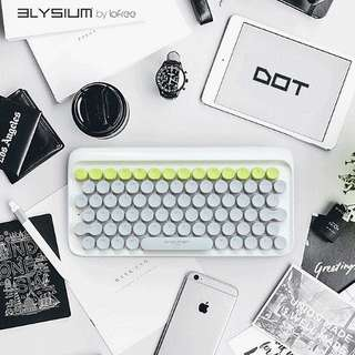 Elysium Dot! The 1st MAC + IOS + Win COMPATIBLE Bluetooth Mechanical Keyboard. Pair Up to 3 Devices. Wired / Wireless Dual Mode. Easy Switch Between Devices!