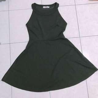 Halter Neck Black Dress