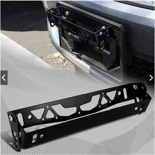CNC Alloy Car Aluminum License Plate Frame Racing Holder Aluminum Car Styling License Plate Frame Power Racing
