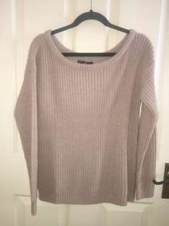 Off Shoulder Knitted Jumper