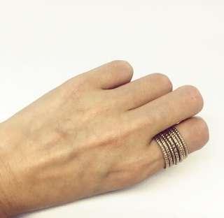 🚚 H&M 7環金色戒環戒子