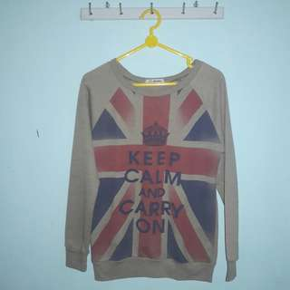 """Keep Calm and Carry On"" Sweater"
