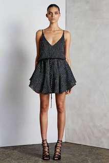 Shona Joy drawstring mini dress
