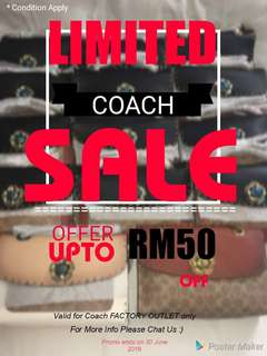 COACH LIMITED TIME SALE!!!