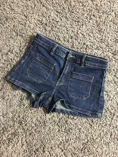 H&M hot pants jean   celana pendek