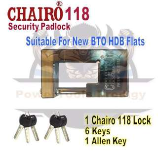 [NEW] CHAIRO 118 SECURITY PADLOCK FOR BTO GATES
