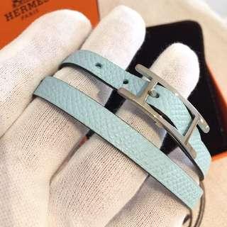 Hermes Bracelet 手帶 雙面 裝飾品 全新 藍色綠色