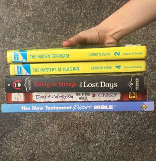 Teen and Children Books SET of 5 (150 each; 750 for all)